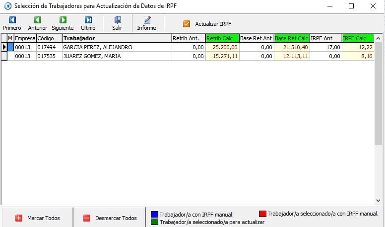 calculo irpf software nominas msnomina