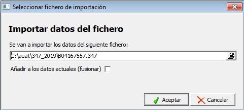 importar ficheros modelo
