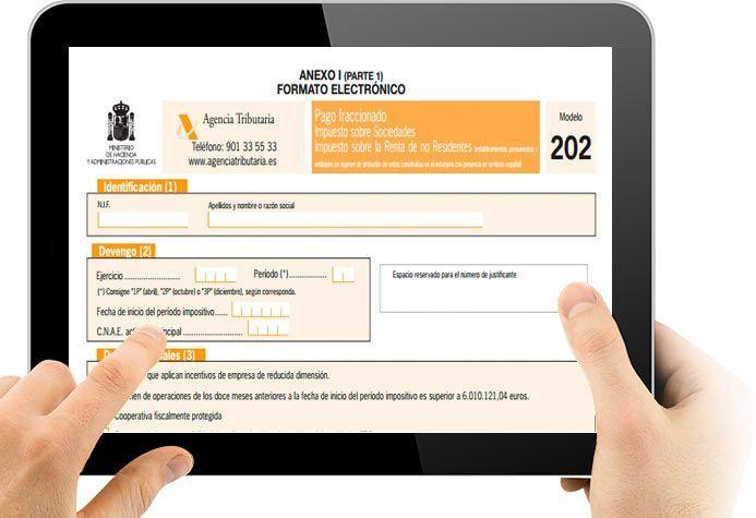 pago modelo 202 impuesto sociedades